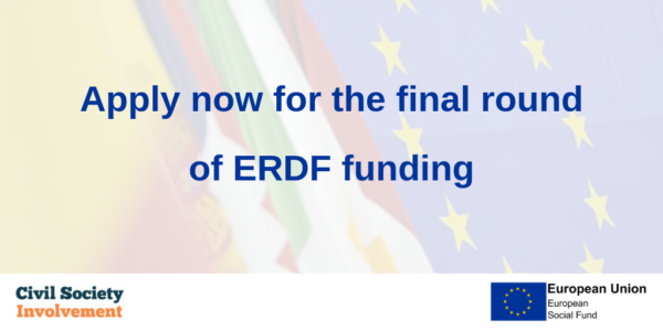NEW FUNDING ALERT | You can now apply for the final round of ERDF funding