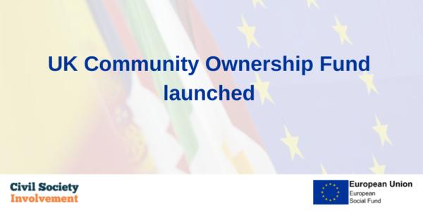 UK Community Ownership Fund Launched